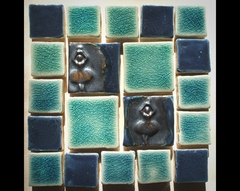 "Handmade Mini-Mosaic 4"" Tile Set"
