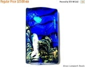 ON SALE 60% OFF 11836403 Sapphire Sea Shimmer Kalera Focal Bead - Handmade Glass Lampwork Bead