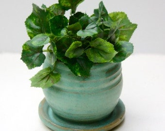Miniature Cerulean Planter Four Inches Tall for Small House plant or cactus