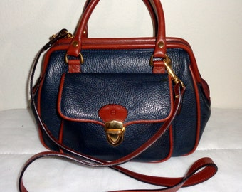 Etienne Aigner vintage  top frame doctors bag ,satchel ,purse, cross body bag handmade  genuine thick leather  MINT condition