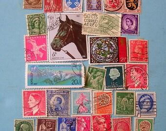 30 Antique Vintage Stamps Antique Vintage Postal Stamps Vintage Postage Stamps