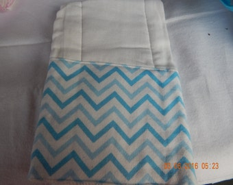 Baby Burp Cloth -- blue chevron