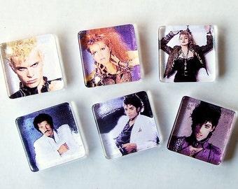 80's Music Superstars Magnet Set