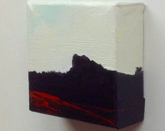 THE ROCK, oil painting, 100% Charity Donation, Cancer research charity, landscape, stretched canvas