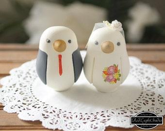 Wedding Cake Topper - Medium Love Birds