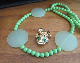 green frog jewelry