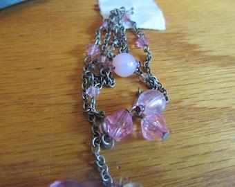 pink  chain beads
