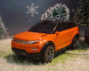 Range Rover Evoque toy metal car Christmas tree ornament