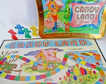 Candy Land Game Pieces Gingerbread Men, Nostalgic Gameboard, Candyland Milton Bradley Collectors Tin  Crafting favors, cake toppers, jewelry