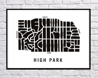 High Park - Toronto Neighbourhood Art Print