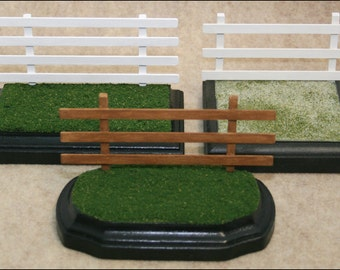 Fencing for Model Horses, 1:32 scale (Breyer Stablemate), 3x5, Removable or Attached