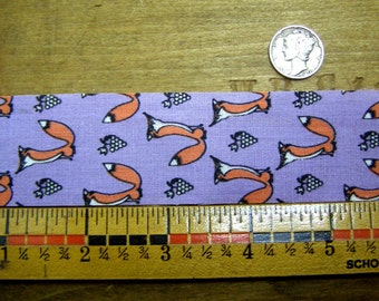 25 Yard Roll Fox Printed Ribbon-Lavender-Foxy Orange-Foxes and Grapes-Sour Grapes?
