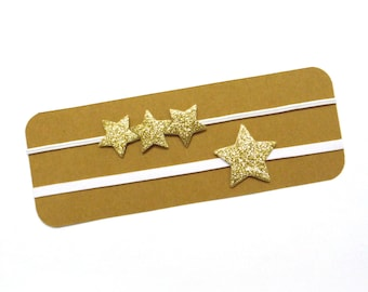 Mommy and Me Glitter Star Headband Set