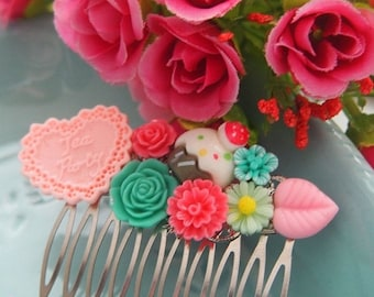 ON SALE Cupcake Tea Party Cluster Hair Comb