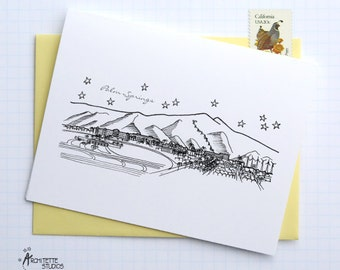 Palm Springs, California - United States - City Skyline Series - Folded Cards (6)