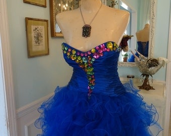 Vintage May Queen Show Stage Burlesque Dress S