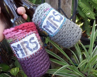 Mrs and Mrs, Beer wrap, Bride and Bride, Lesbian wedding, cozy, Gay Wedding, Boho Hippie, Gay Pride, C66, same sex, two brides, lesbian gift