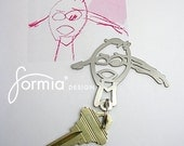 Your child's drawing on key chain for DAD - must request PRICE QUOTE before purchase