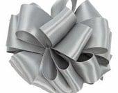 Silver Satin Bridal Sash - Wedding Sash - Wedding Belt - Double Face Satin - Satin Ribbon - Ribbon by the Yard