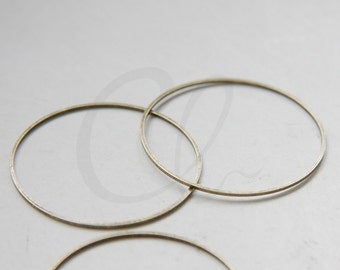 2pcs Antique Brass Flat CLOSED Ring - Link - Loop 40x1mm (3072C-N-142)