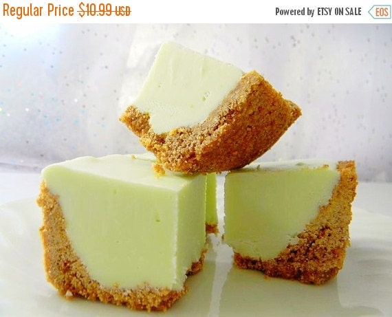 BIRTHDAY SALE Julie's Fudge - KEY Lime Pie w/Graham Cracker Crust - Over Half Pound