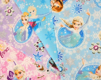 Disney Cartoon  Disney Princess  Anna and Elsa Fabric Scrap    2016A