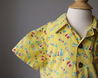 1940s Sunny Animal Novelty Top~Size 12 Months