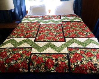 """Quilts for a Cause Christmas Quilt 72""""x58"""""""