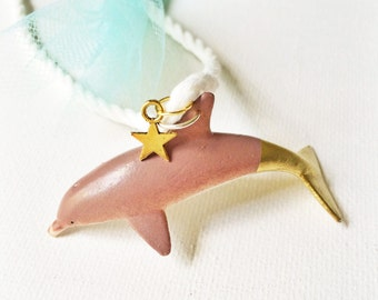 Dolphin Necklace. Kids Sea. Kids Jewelry. Kids Necklace. Girls Necklace. Kids Dolphin. Childrens Necklace. Star Charm Necklace. Girl Gift