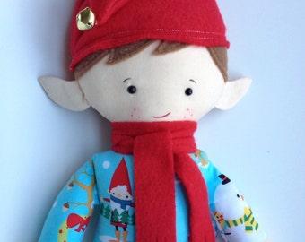 Elf, Elf Doll, Plush Elf, Doll, Christmas Elf Doll, Christmas Doll, Plush Doll, Rag Doll, Fabric Doll, Cloth Doll, Soft Doll, Boy Doll-Buddy