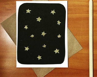 Hand-cut Starry Night Greeting Card