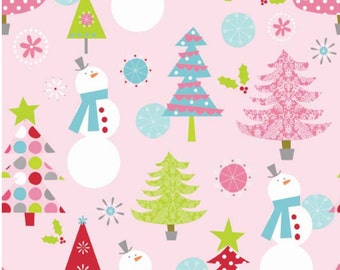 Christmas Basics in Pink for Riley Blake- 1 Yard
