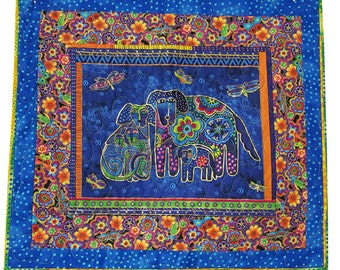 Wall Quilt in Laurel Burch Bright Dog Print