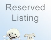 RESERVED for Eileen
