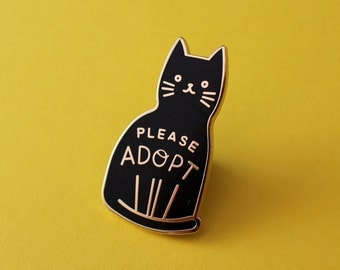 Adopt a Cat Enamel Pin