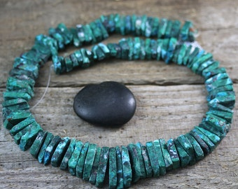 Chrysocolla Malachite Shard Matte Collar Strand