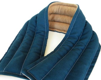 Long Microwave Heating Pad, Rice Flax Neck Wrap, Hot Pack Cold Pack, Gift for Guy Man Dad, Heated Neck Wrap, XL Extra Large Heat Wrap Moist