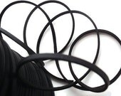 6 Yards (18 Ft.)  Imitation Leather Faux Suede Cord, jewelry Making Supplies, Black Color, about 2.7mm wide, 2mm thick