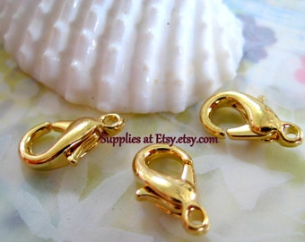 Sale FROM USA- Fine Bright  Gold plated  Clasps Nickel and lead  Free-Gold Parrot clasp-Jewelry findings-Jewelry supplies-Diy Jewelry
