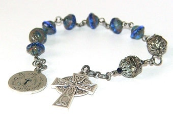 Christian Prayer Beads / Pocket Rosary - Anglican, Protestant, Episcopalian