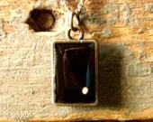 Mustard Seed Necklace - Antique Brass Mustard Seed Necklace - Mustard Seed Jewelry - Mustard Seed Faith - Black Mustard Seed Necklace