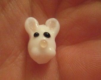 10 Glass Bunny Beads