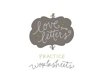 Love Your Letters Practice Worksheets