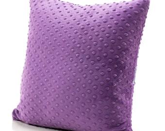 Throw Pillow, Accent Pillow, Minky Pillow, Violet Pillow, Purple Bedding, Girl Pillow, Girl Bedding, Twin Bedding, Twin Pillow