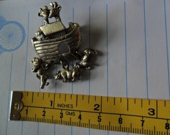 Vintage Noah's Ark Pin that is Stamped on the back