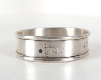 Vintage Gorham Sterling 6290 Napkin Ring, Engraved Diane
