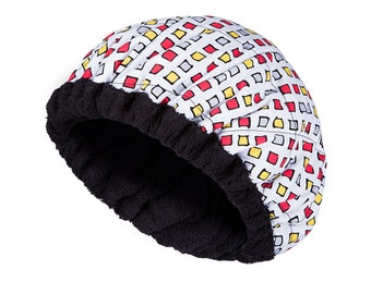 FOR KIDS! Microwavable Deep Condition Cap - SQUARES Reversible Little Hot Head