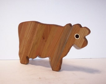 Cow Cutting Board / Cheese Board Handcrafted from mixed hardwoods