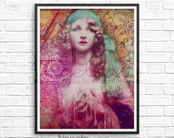 Gypsy Art, Printable Wall Art, Gypsy Wall Art, Vintage Gypsy, Boho Wall Art, Boho Artwork, Gypsy Soul, Digital Print, Printable Download