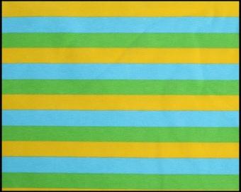 "Aqua yellow and green 1/2"" stripes"
